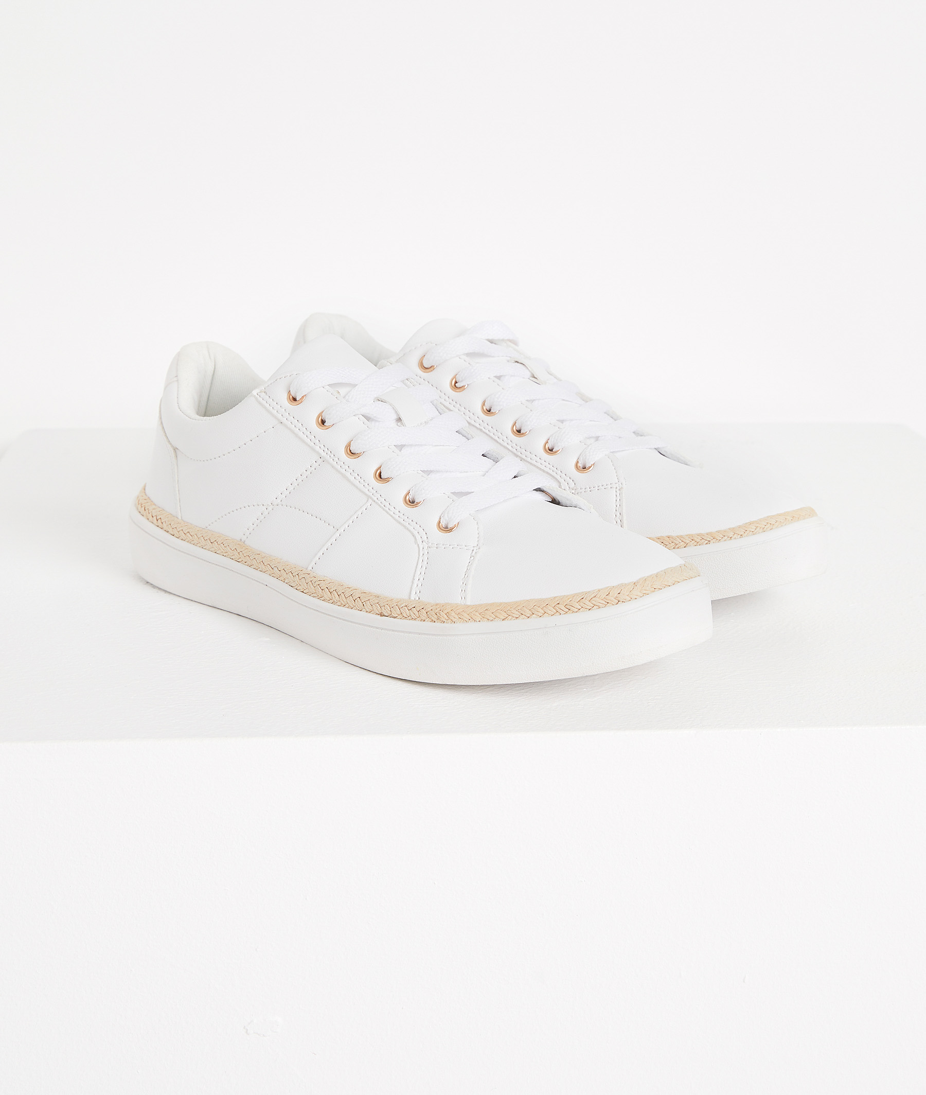 Baskets blanches femme BLANC