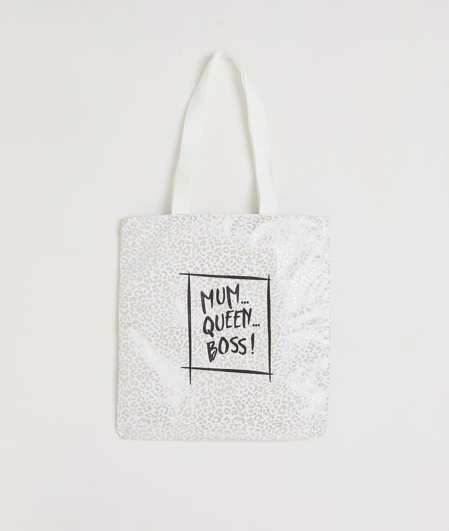Tote bag imprimé 100% coton femme LEOPARD