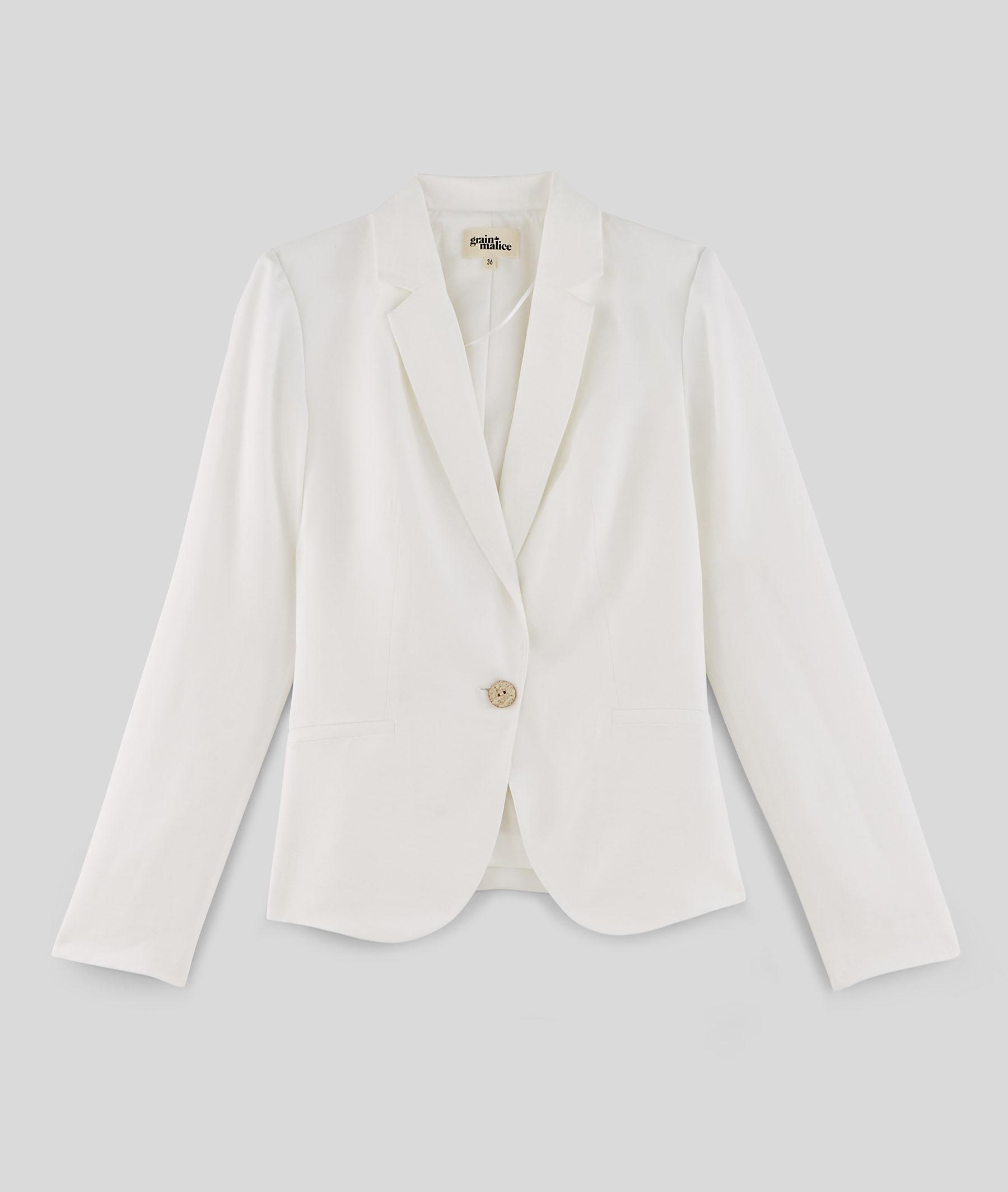Veste de tailleur blanche femme BLANC