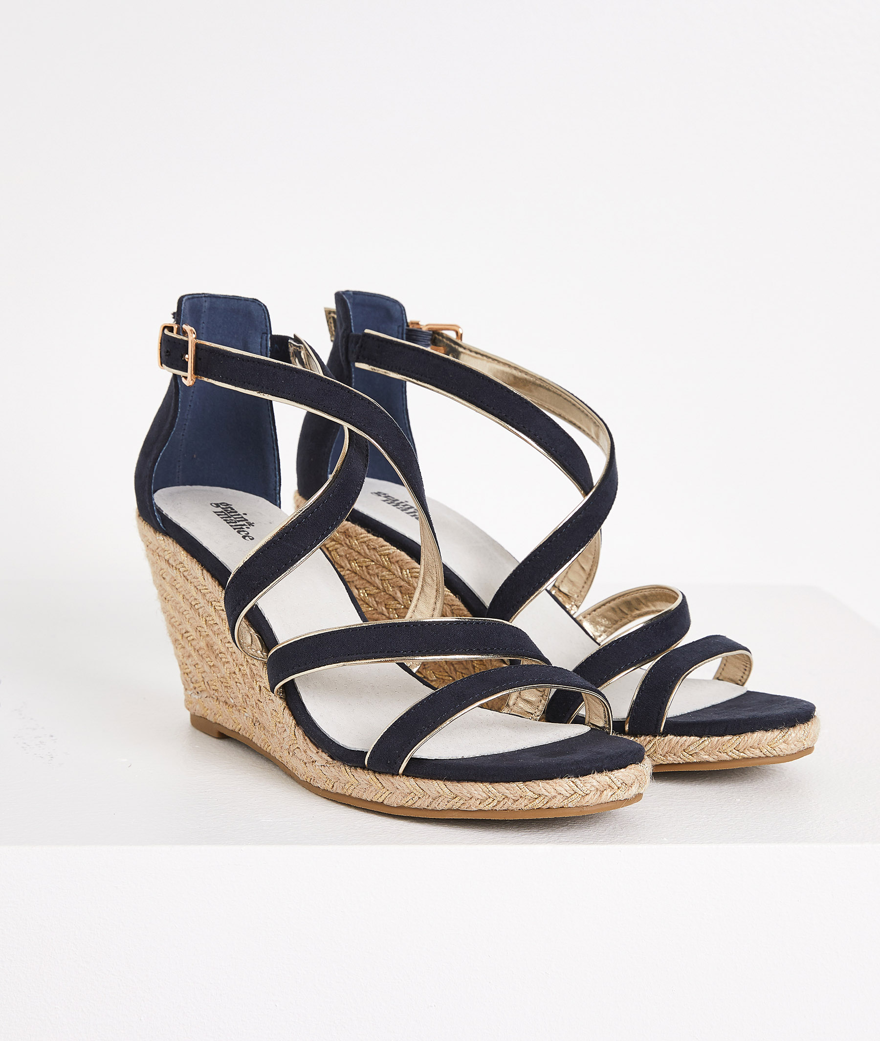 Sandales compensées marine femme MARINE