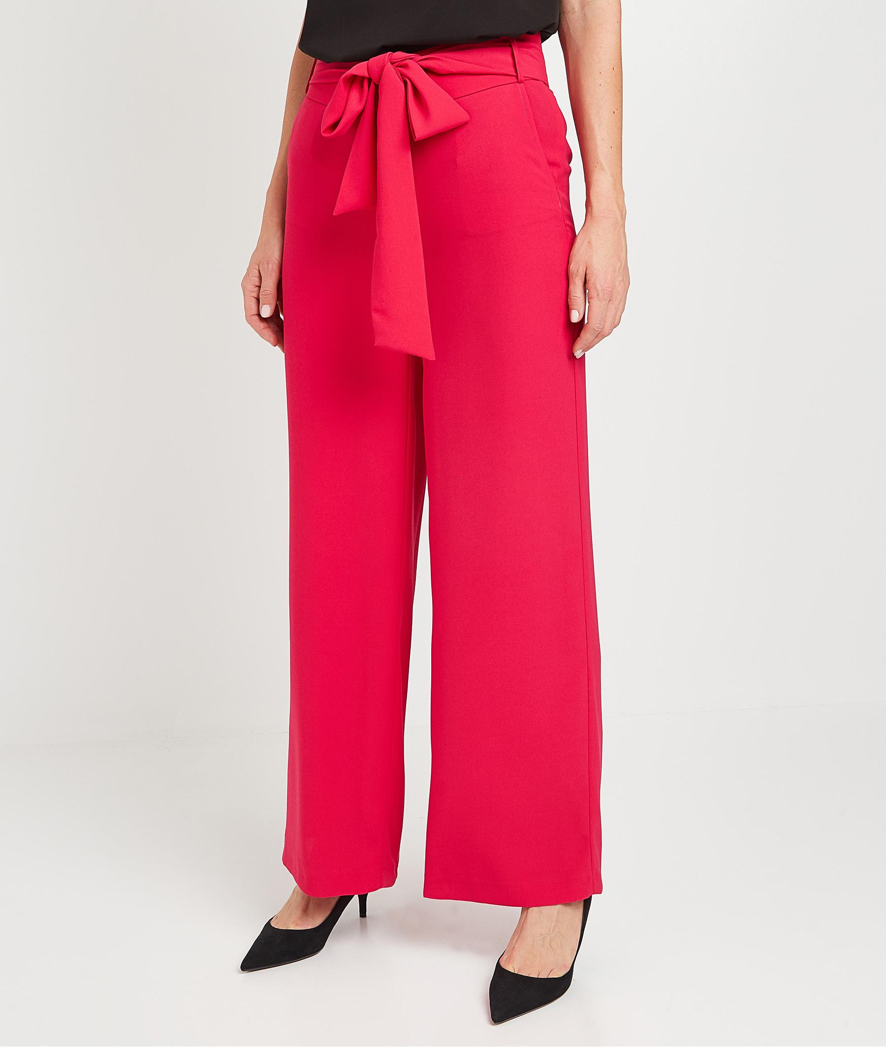 Pantalon large fuchsia femme FUCHSIA