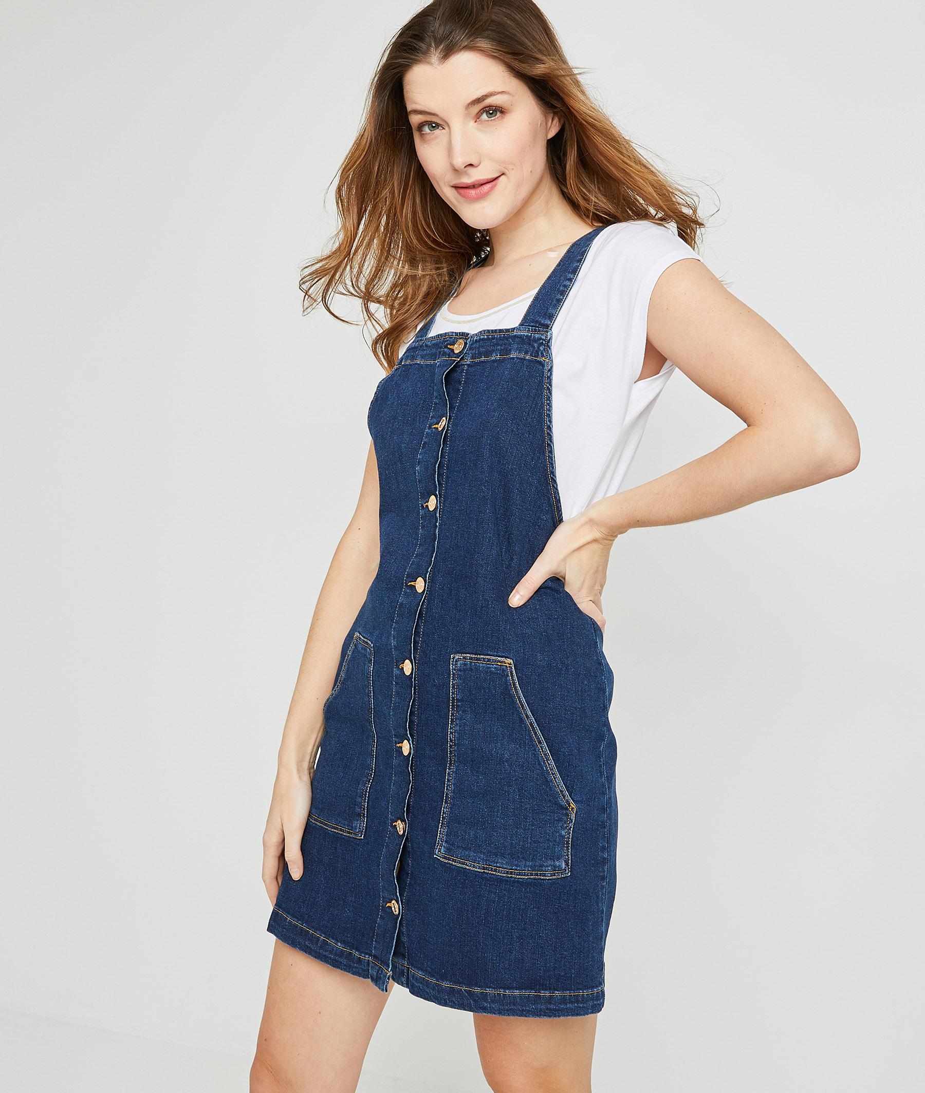 Robe chasuble en jean femme BRUT