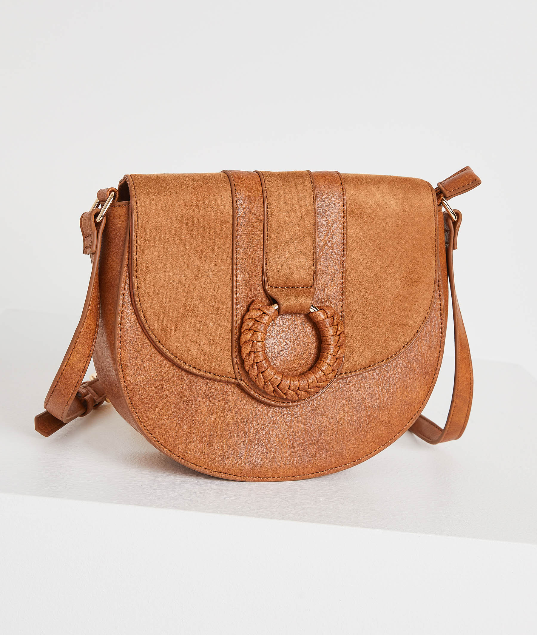 Petit sac camel bi-matière femme CAMEL