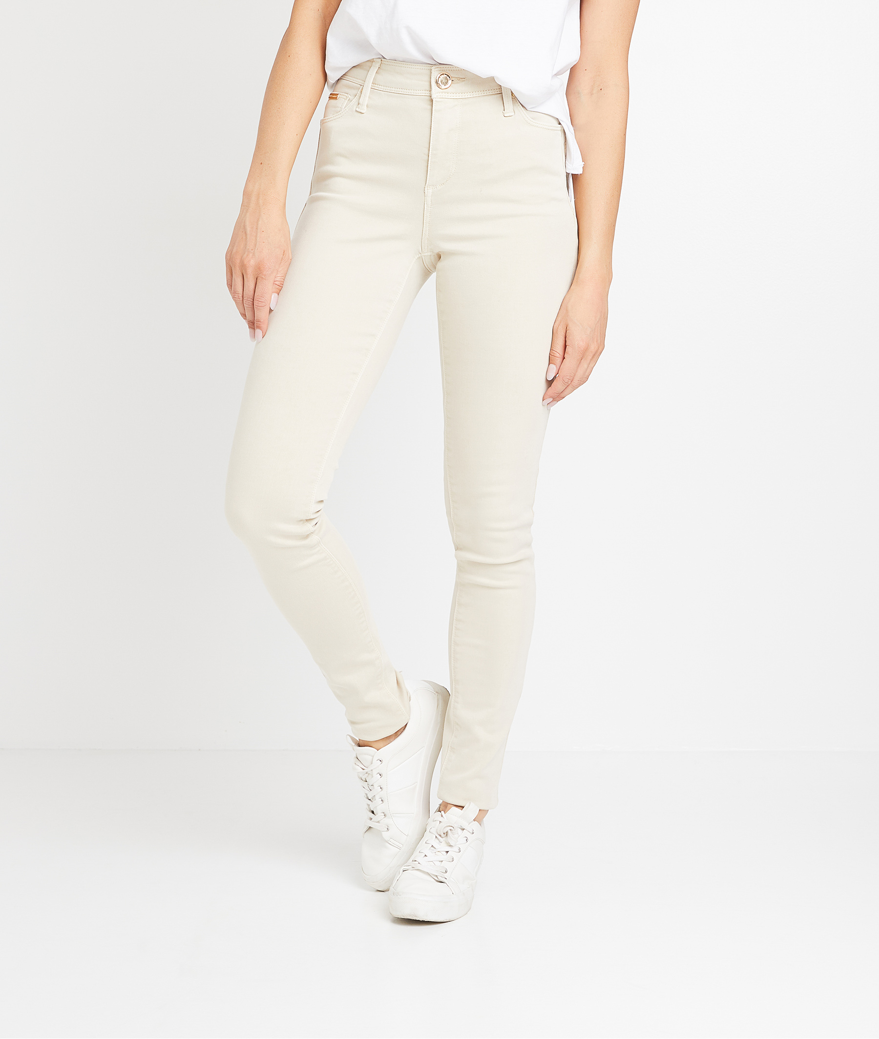 Pantalon flim push up coloré femme BEIGE CLAIR