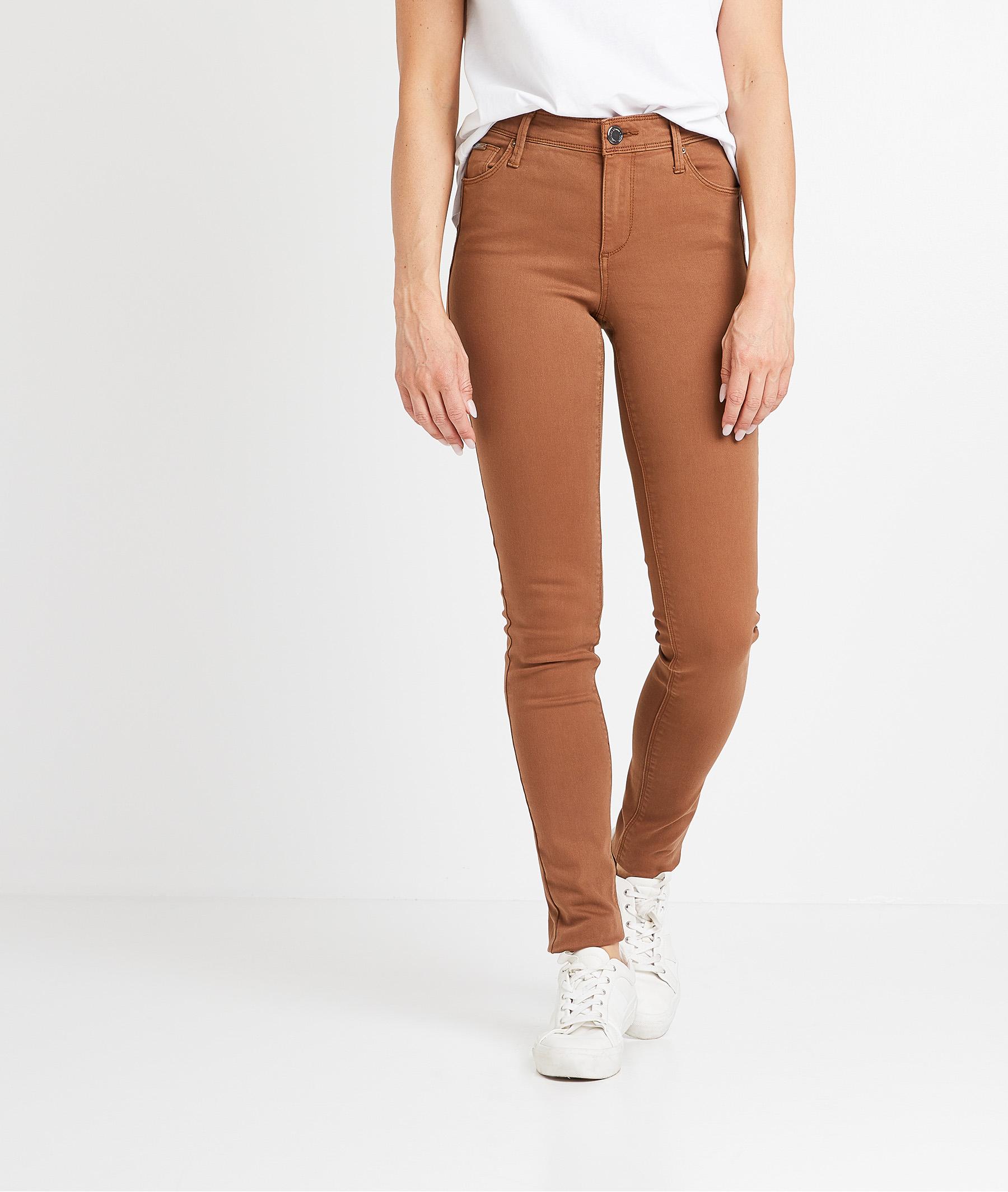 Pantalon flim push up coloré femme CARAMEL