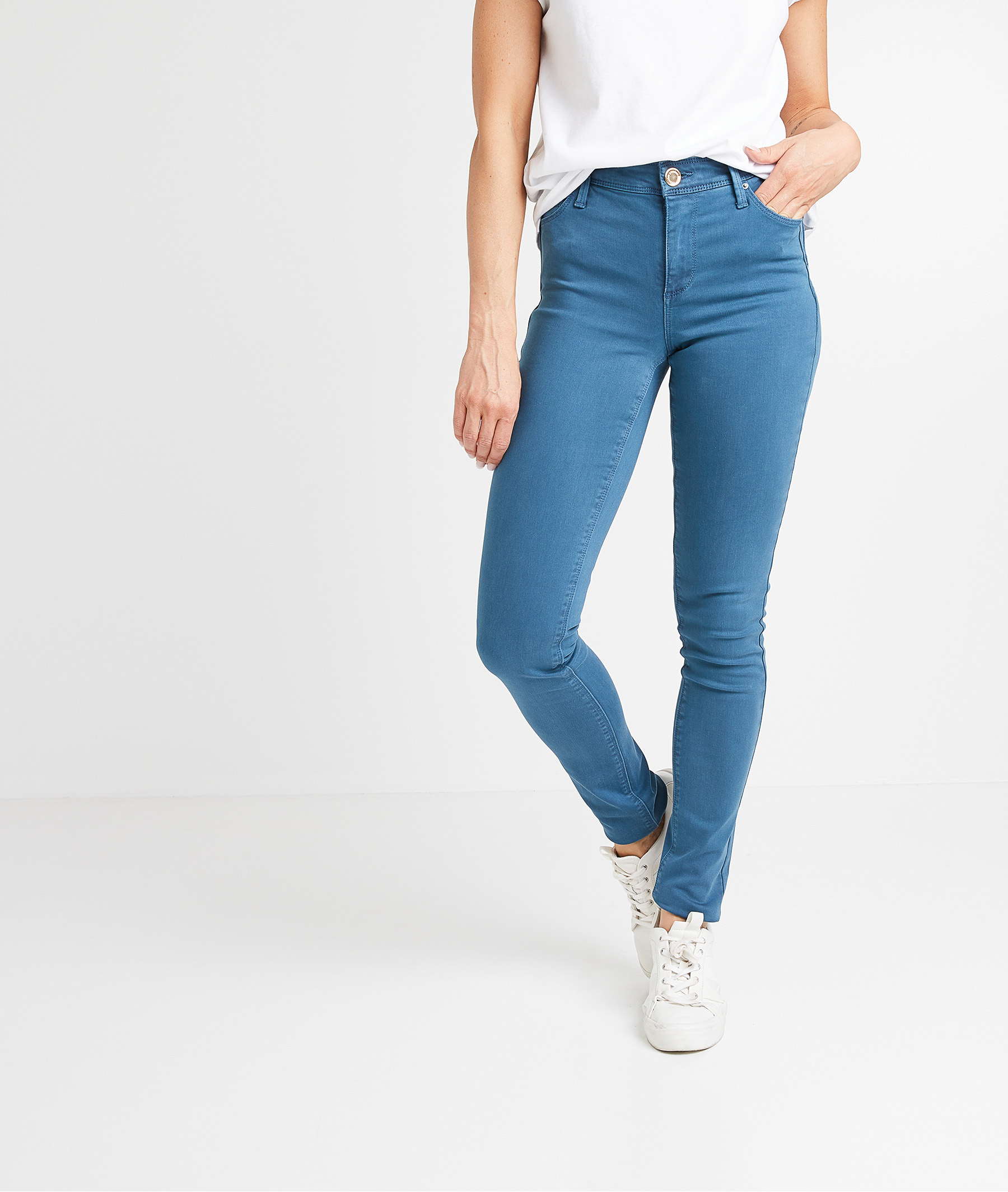 Pantalon slim push up coloré femme PERSAN