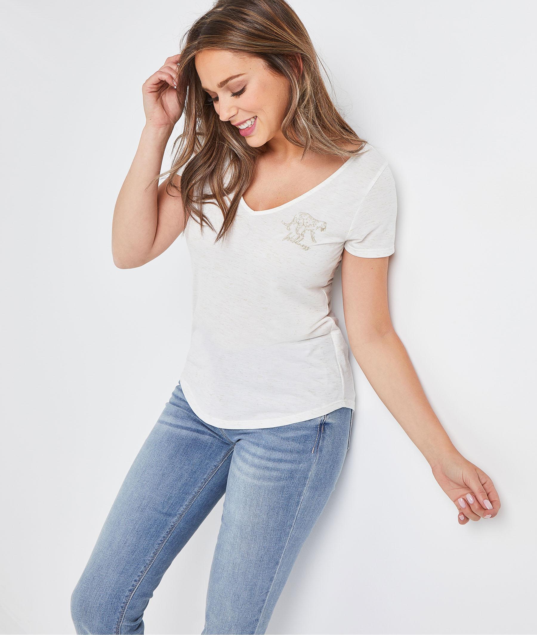 T-shirt beige brodé femme BEIGE