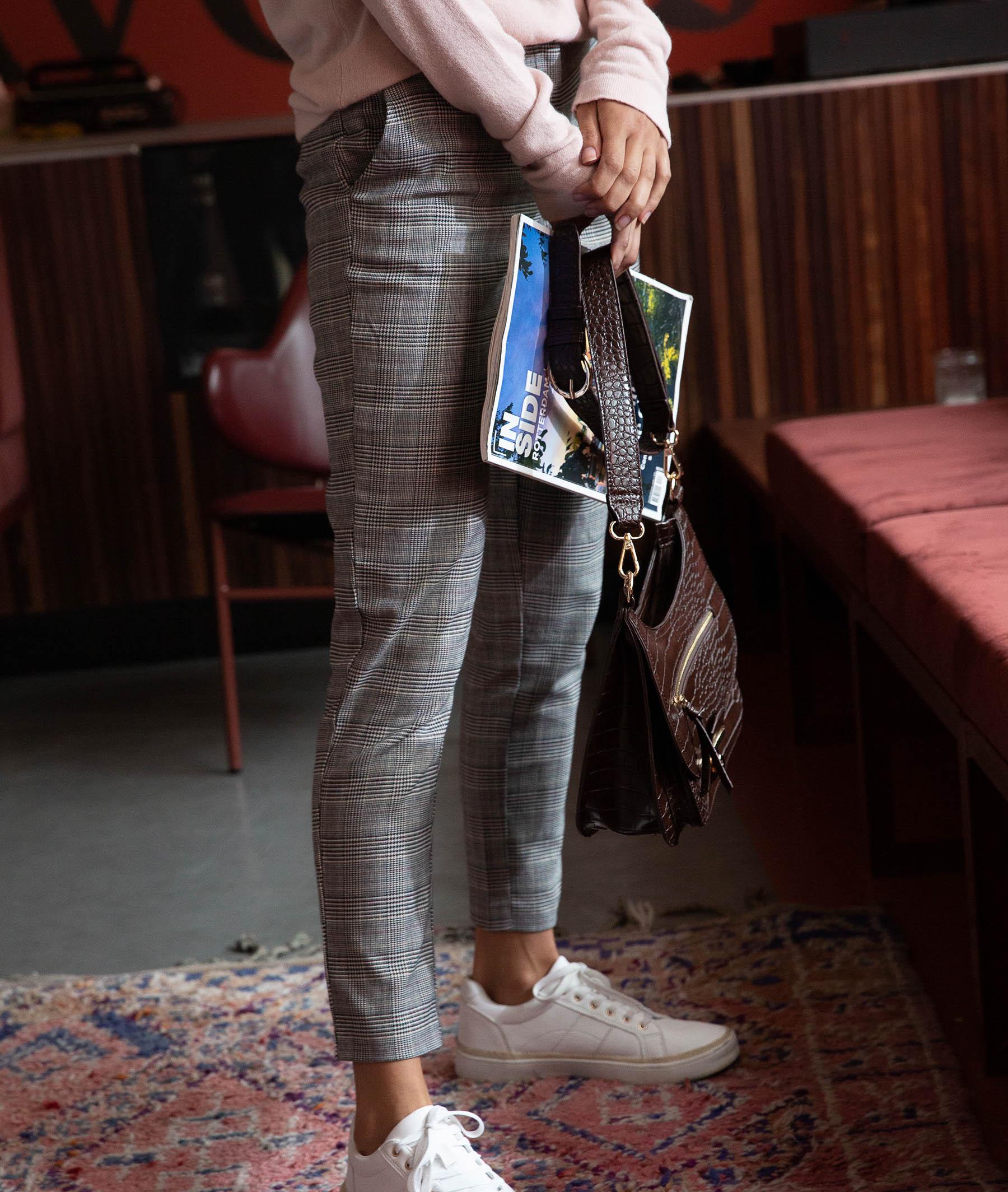 Pantalon cigarette en lainage femme GRIS