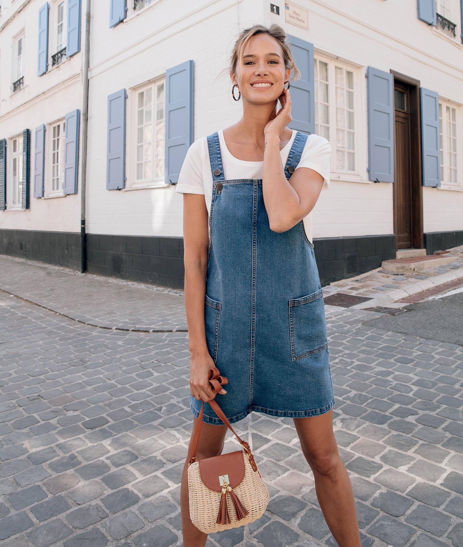 Robe en jean stretch femme STONE