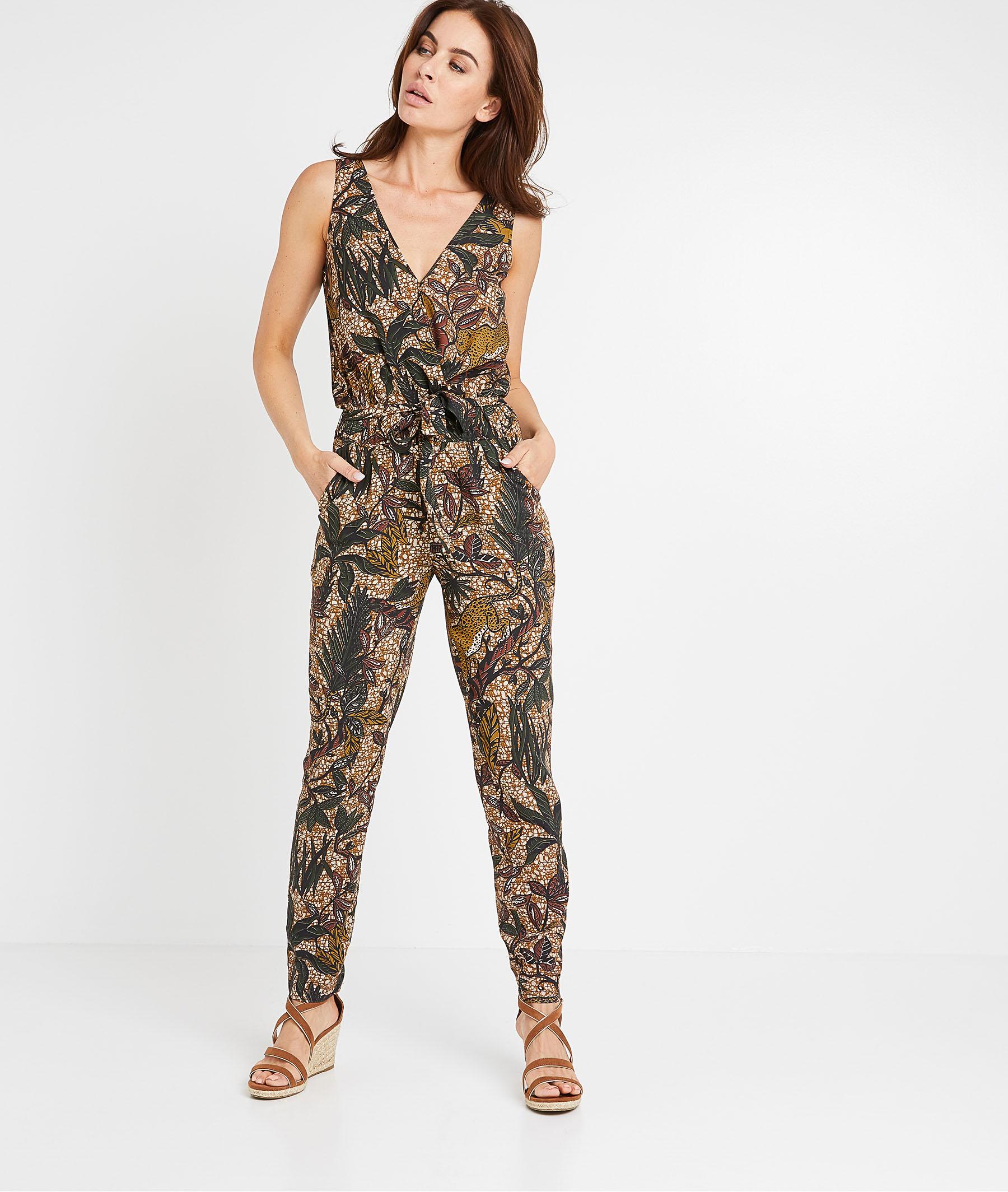Combi-pantalon imprimée femme CAMEL