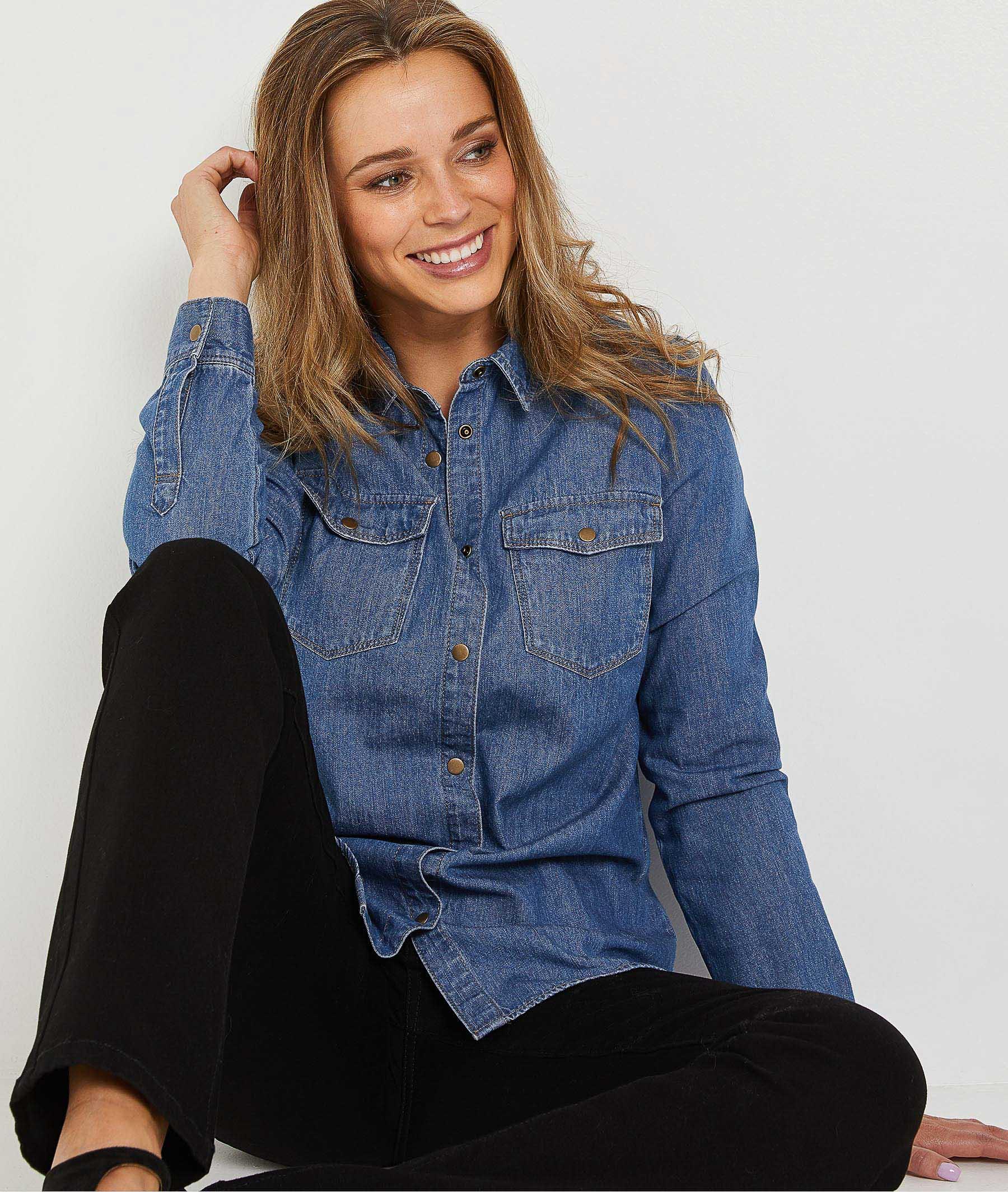 Surchemise en jean femme STONE