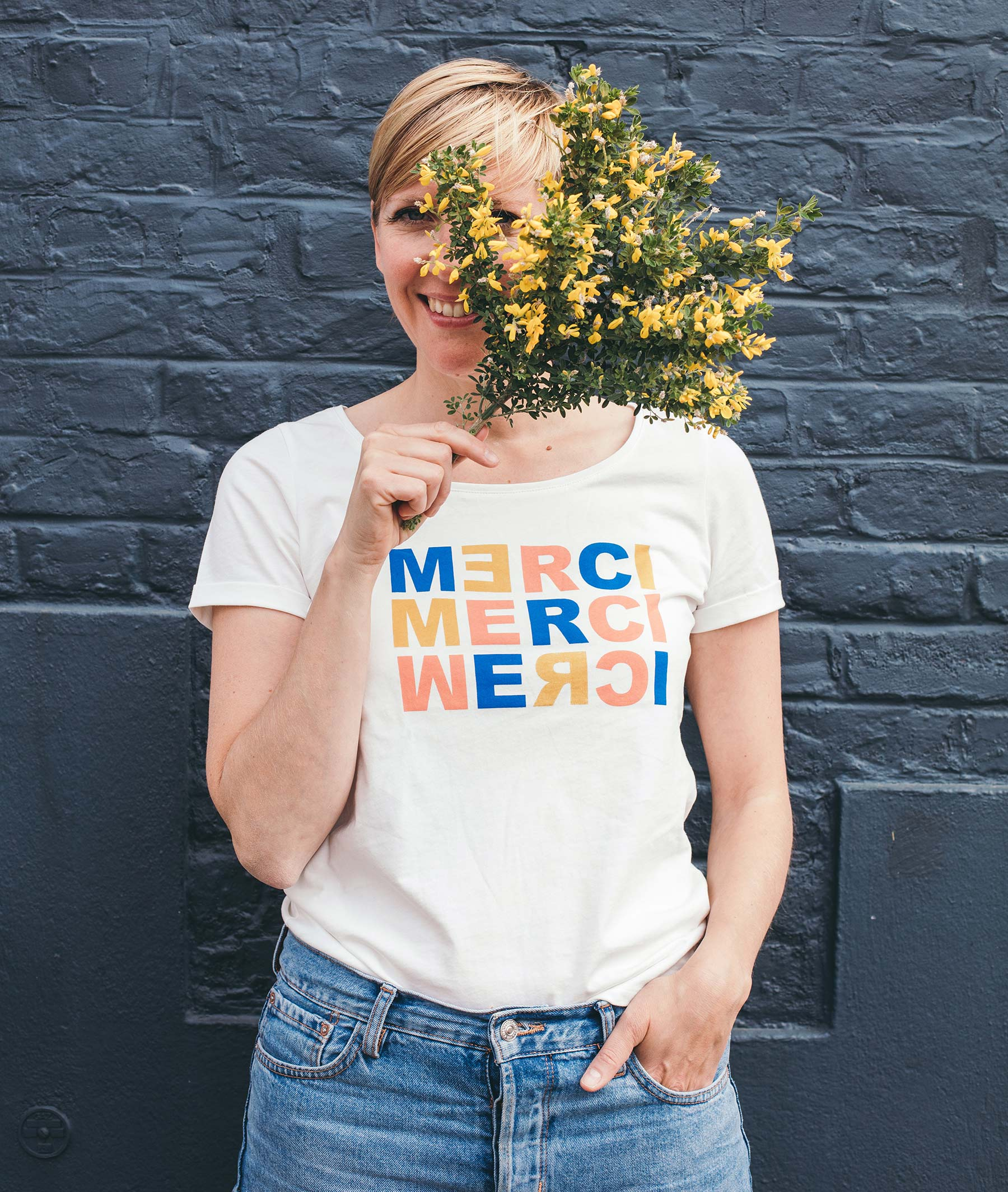 T-shirt caritatif blanc femme BLANC