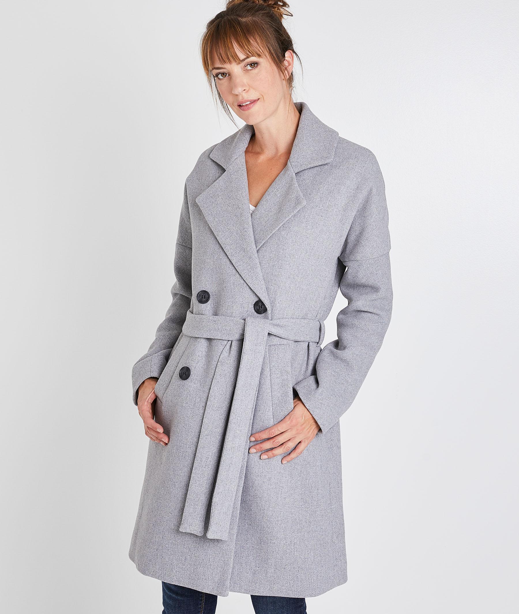 Manteau long gris femme GRIS