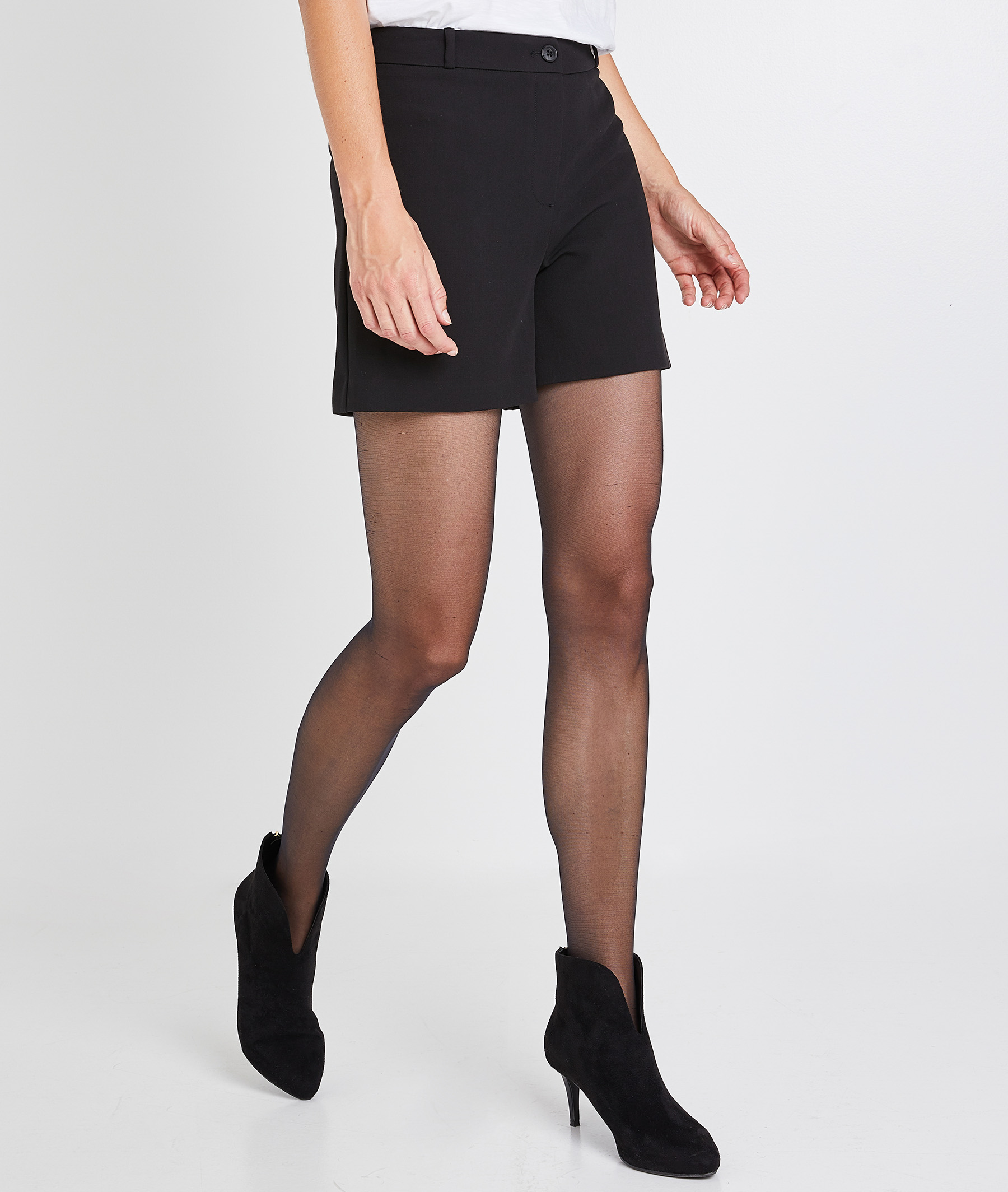 Short basique noir femme NOIR