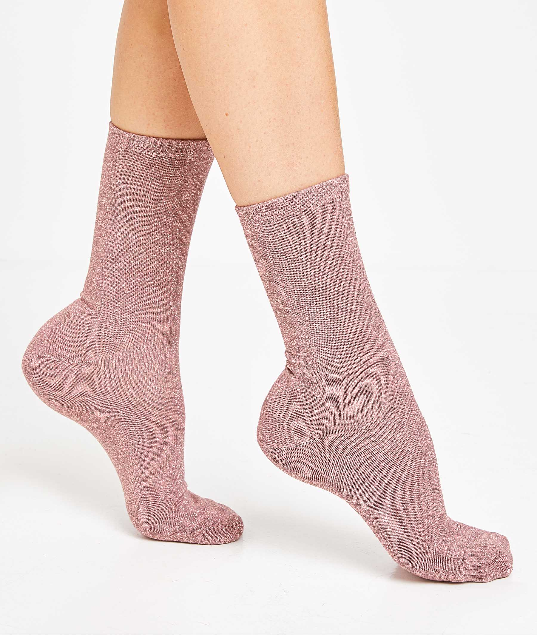 Lot de 2 paires de chaussettes femme ROSE