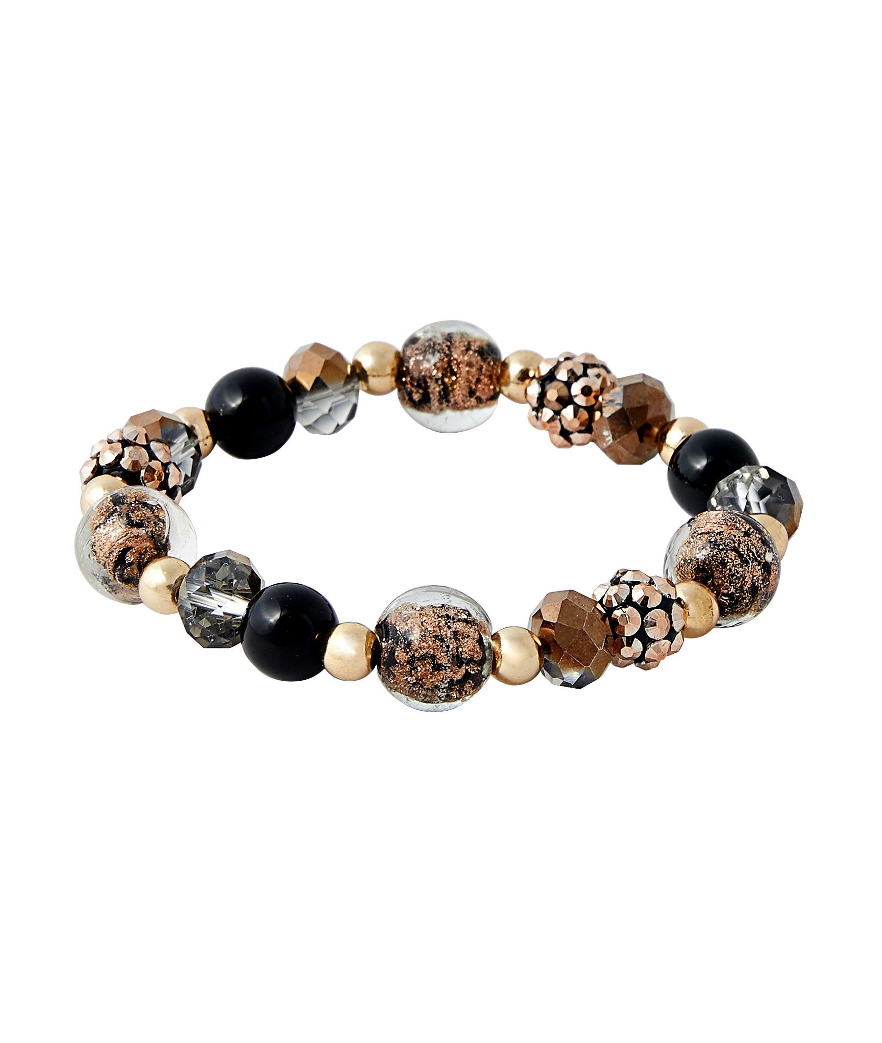 Bracelet élastique en perles femme 2 TONS