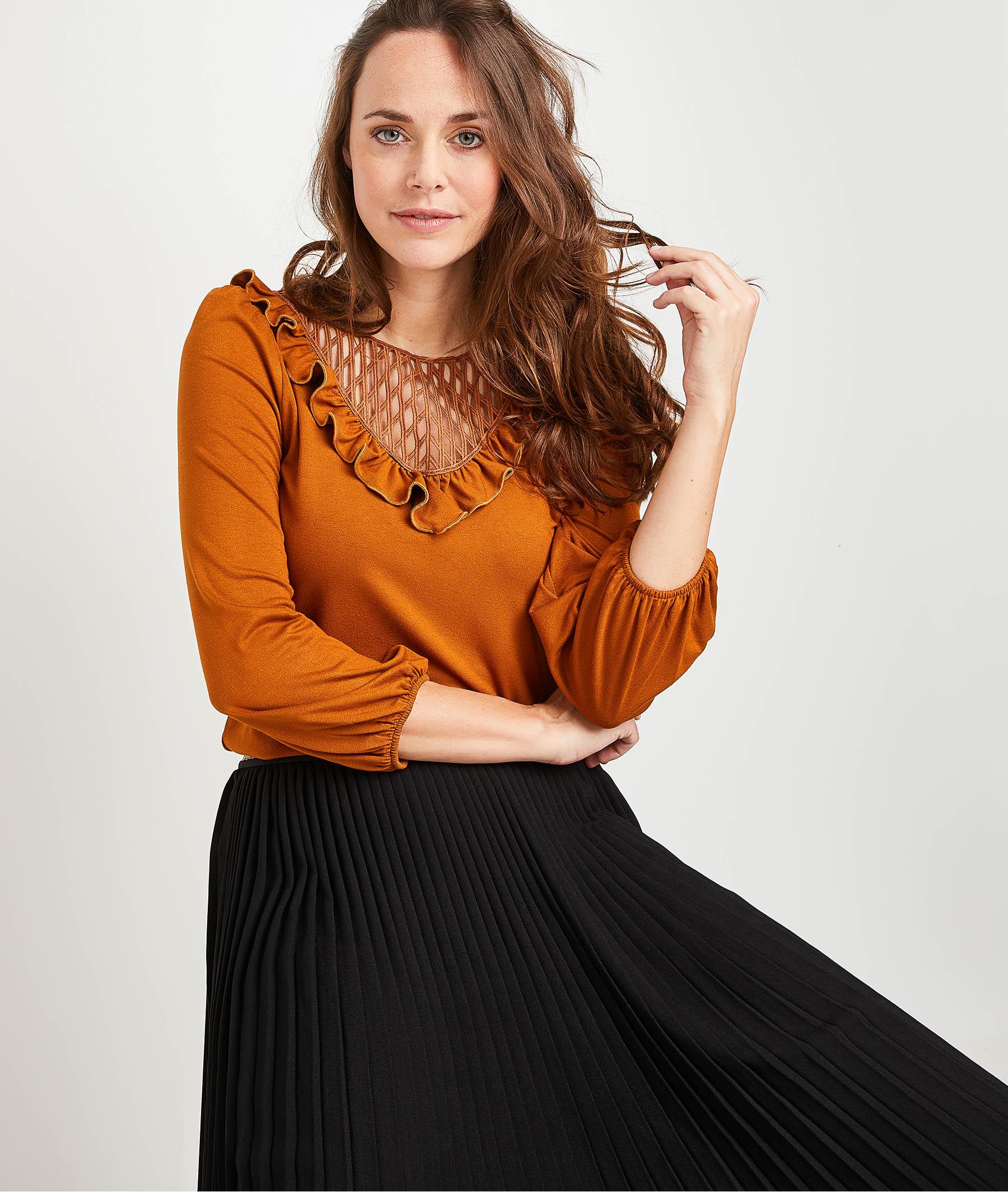 T-shirt fantaisie caramel femme CARAMEL