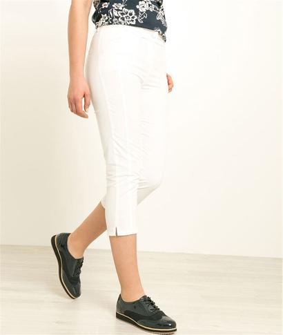 Pantalon corsaire femme couleurs BLANC