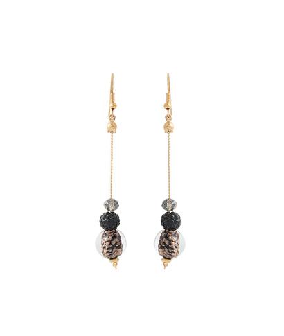 Boucles d'oreilles pendantes perles VIOLET