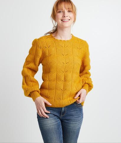 Pull tricot fantaisie safran femme SAFRAN