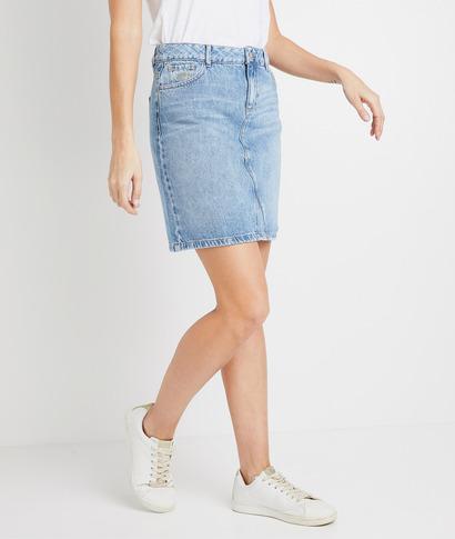 Jupe courte  trapèze en jean femme STONE