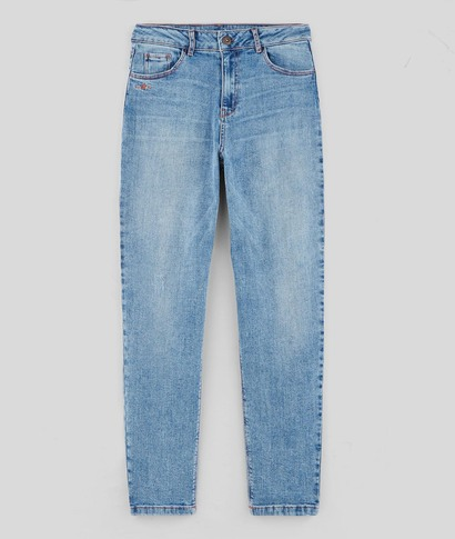 Jean mom femme STONE