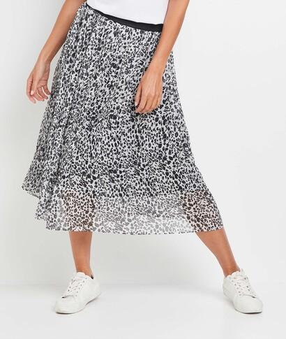 Jupe plissée imprimé léopard femme IMPRIME