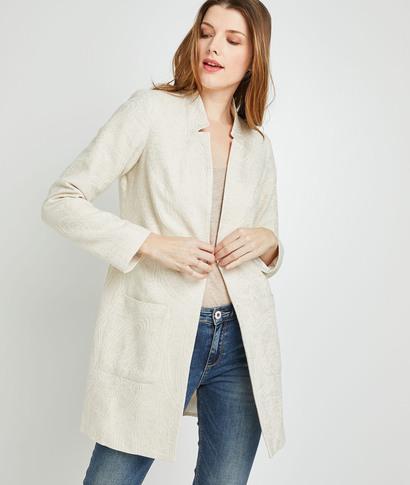 Manteau habillé écru femme ECRU
