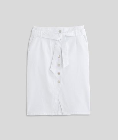 Jupe mi-longue blanche femme BLANC