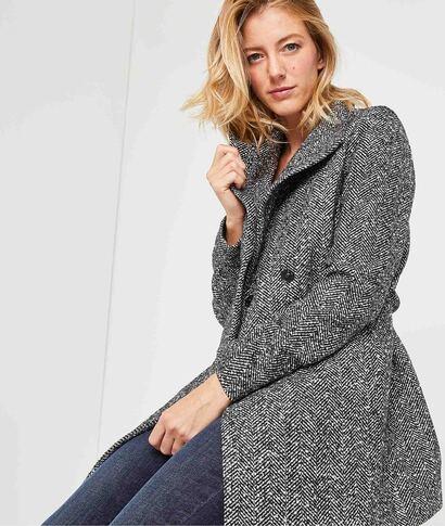 Manteau mi-saison femme GRIS