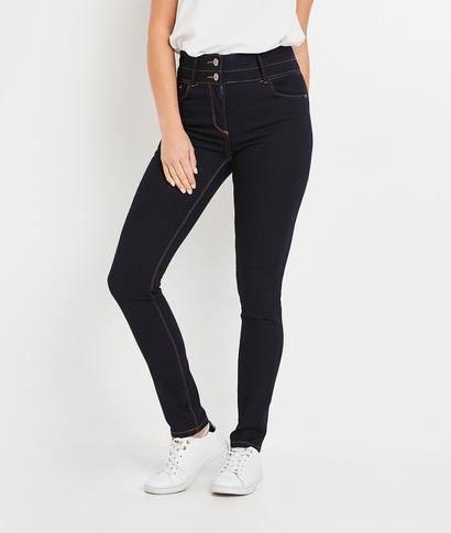 Jean MILAN slim taille haute femme BLUE BLACK