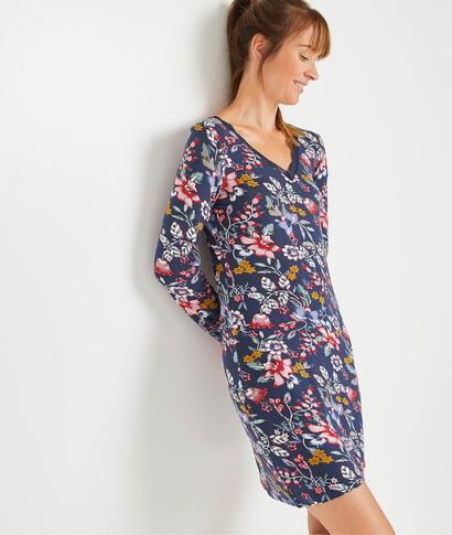 Robe de nuit fleurie femme MARINE