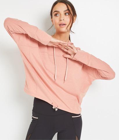 Sweat à capuche rose femme ROSE