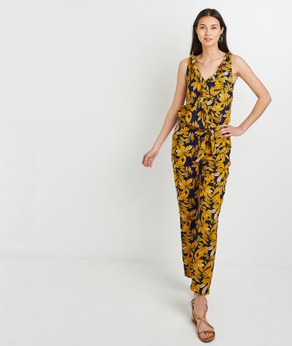 Combinaison pantalon imprimée femme MARINE