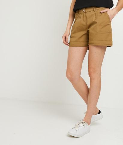 Short en coton femme CAMEL