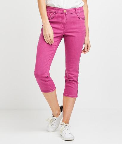 Corsaire en jean de couleur femme ORCHIDEE