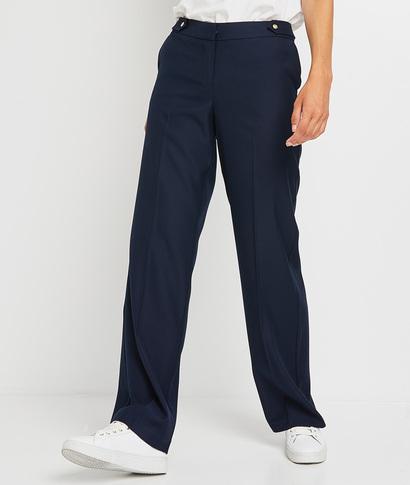 Pantalon marine large femme MARINE