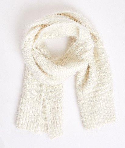 Echarpe tricotée douce femme ECRU