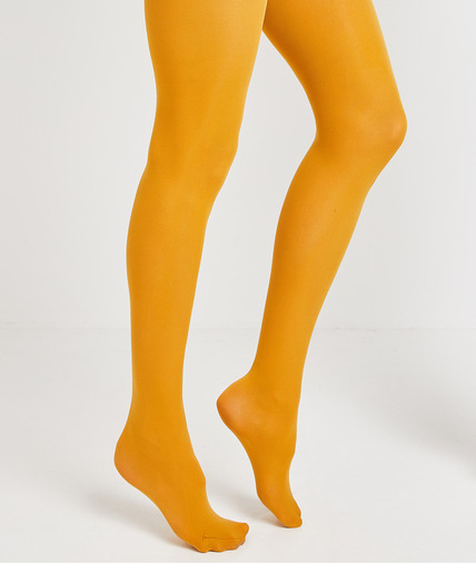 Collant femme opaque MOUTARDE