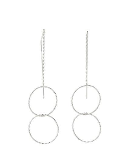 Boucles d'oreilles pendantes cercles AUCUNE