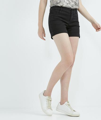 Short femme en jean BLACK