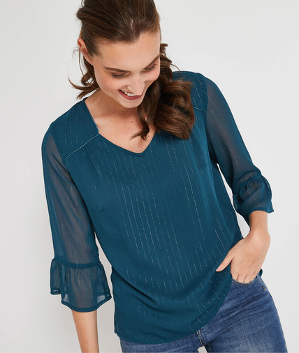 Blouse fluidre manches 3/4 JADE