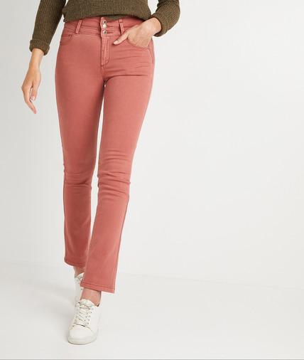 Pantalon droit taille haute uni femme BLUSH