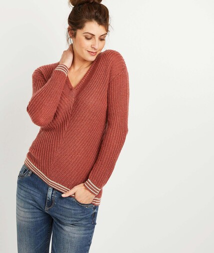 Pull  tricot femme ROUGE