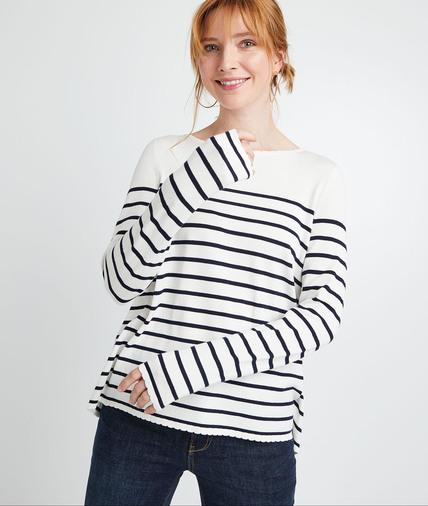 Pull marinière femme ECRU