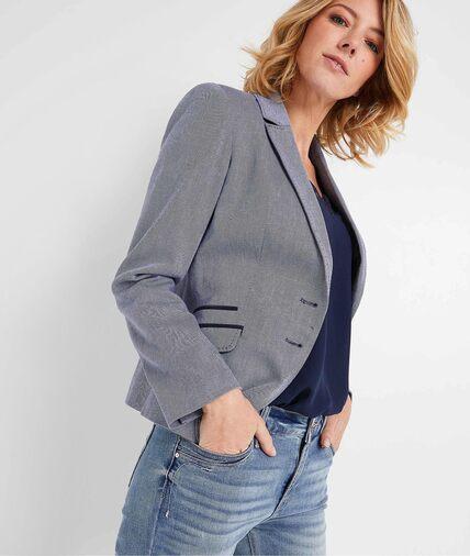 Veste de tailleur bleue femme BLEU