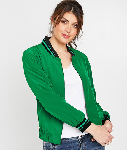 Bombers fluide vert femme VERT
