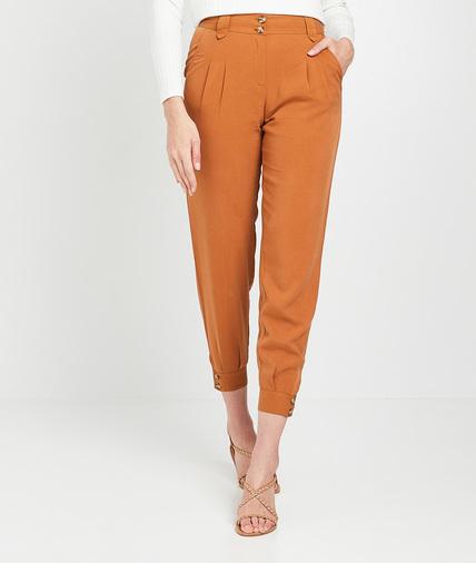Pantalon en tencel camel femme CAMEL