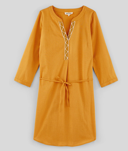 Robe en coton et lin femme SAFRAN
