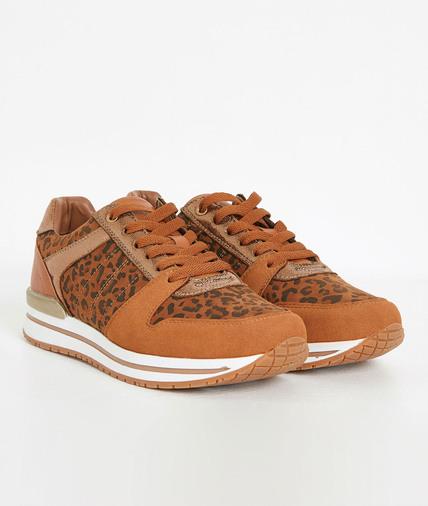 Baskets imprimé léopard femme LEOPARD